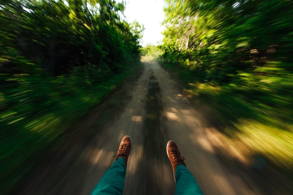 スピード感のある画像