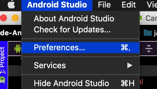 AndroidStudioのPreferences