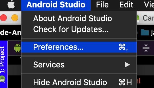 AndroidStudioのPreferences